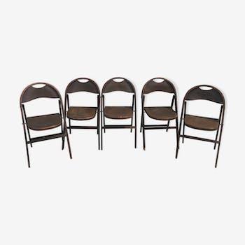 Lot de 5 chaises pliantes Thonet B 751