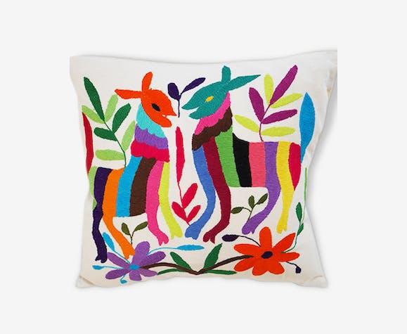 Housse de coussin mexicain   tissu   multicolore   éthnique   136378