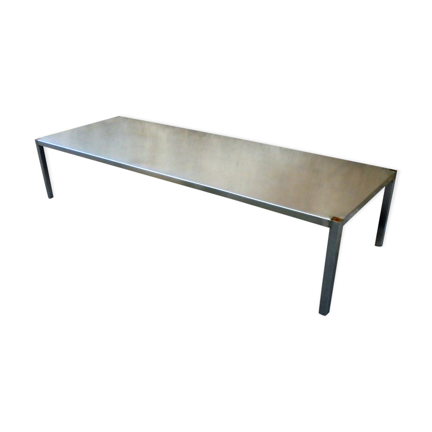 Table Basse En Inox pour table basse en inox industrielle - métal - argent (couleur
