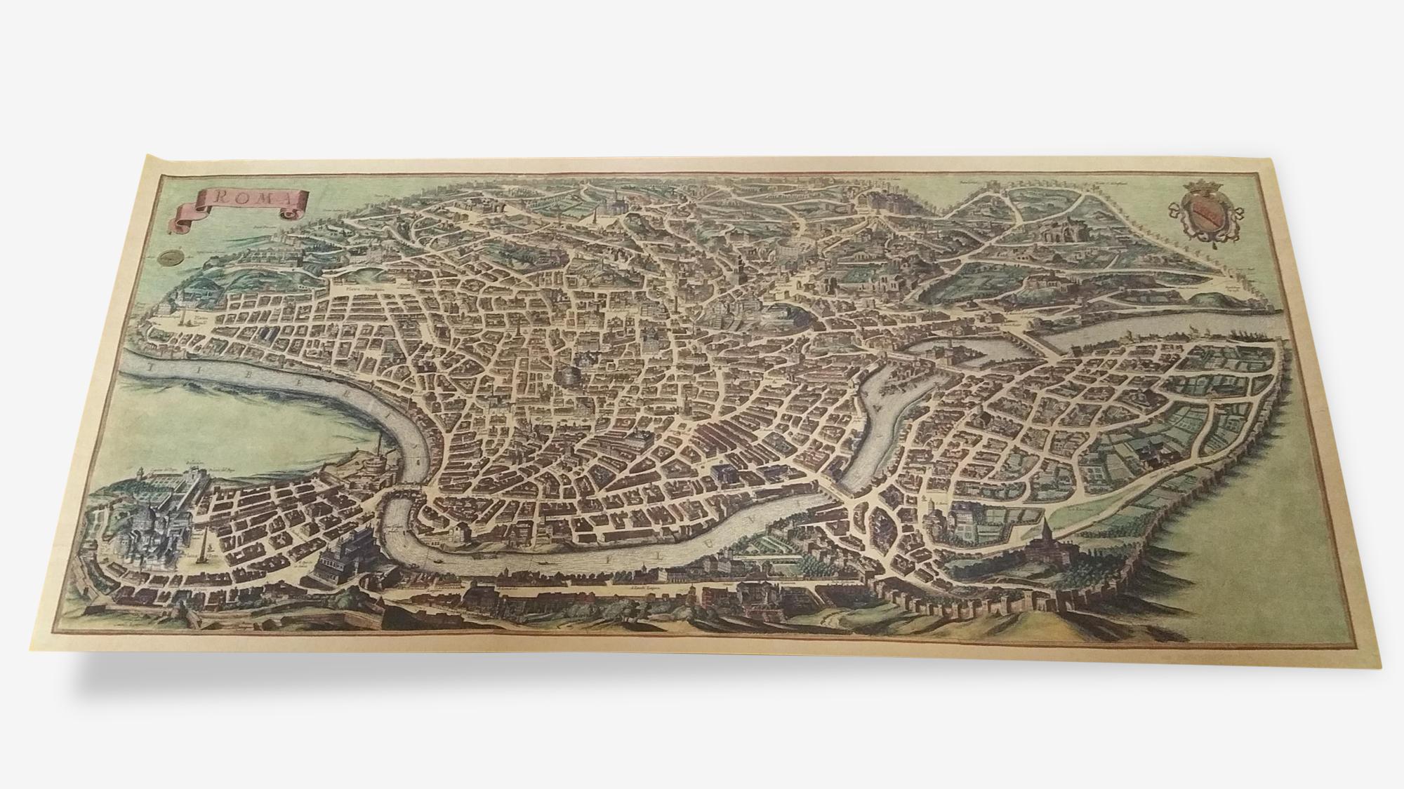 Affiche plan de Rome