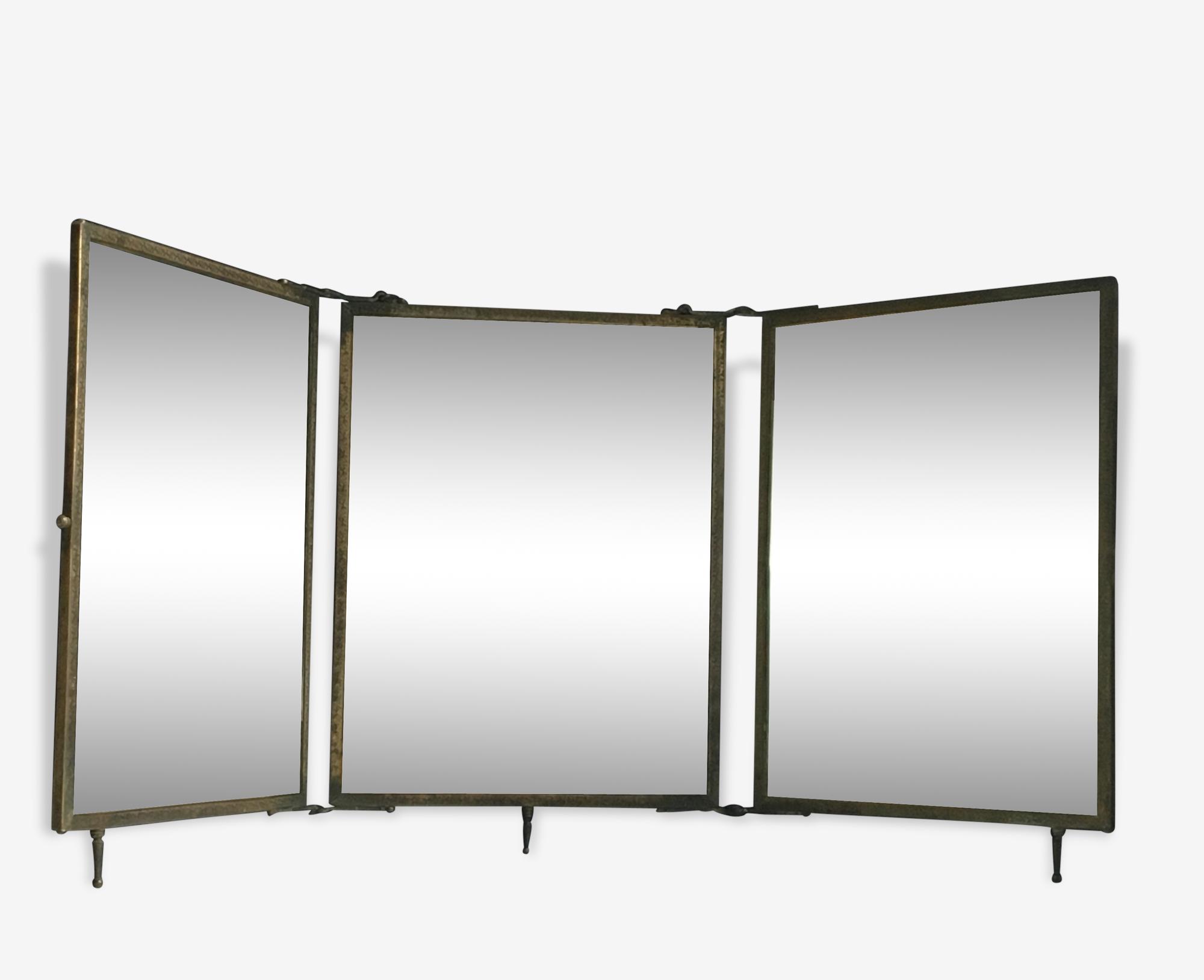 Miroir triptyque, début XXème