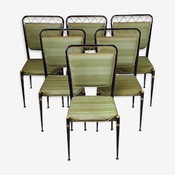 Suite de 6 chaises des années 50