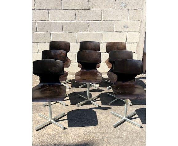 Lot de 8 chaises design Flototto