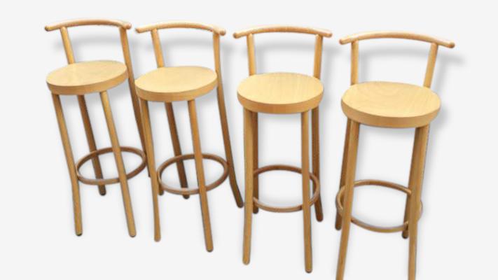 Tabouret De Bar En Bois Avec Dossier tabourets bar baumann avec dossier ou chaises hautes , bois clair