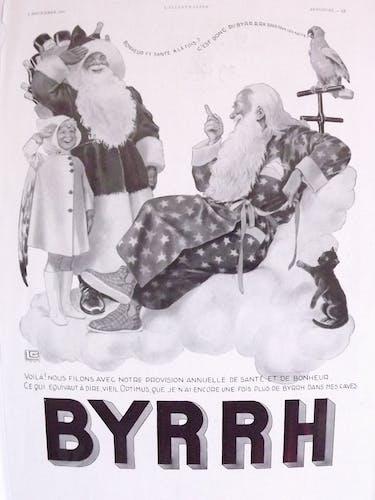 Poster advertising paper Byrrh 1937 by LG