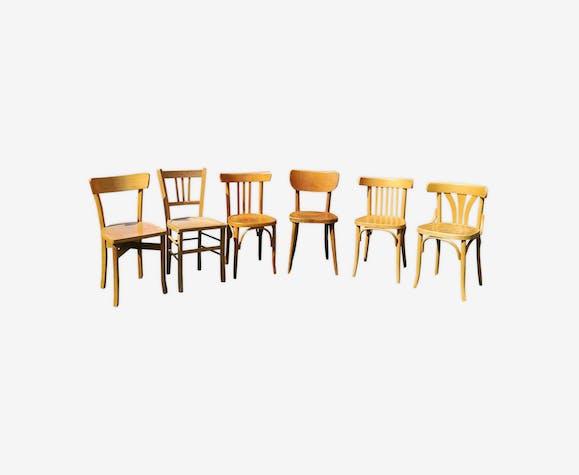 Série de 6 chaises bistrot dépareillées