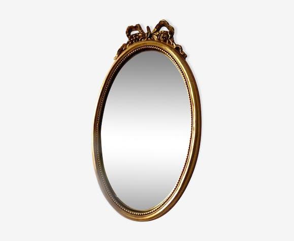 Mirror oval style Napoleon III 43x25cm