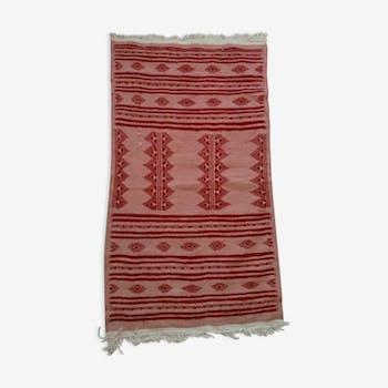 Berber carpet pink and Red 110 x 66 cm