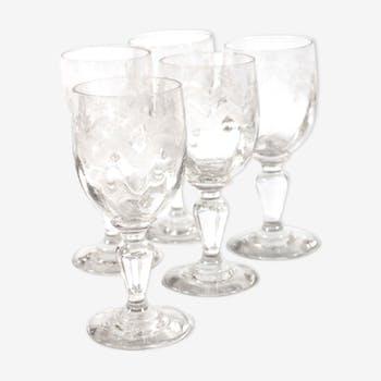 POP UP NOEL - 5 chiselled glasses