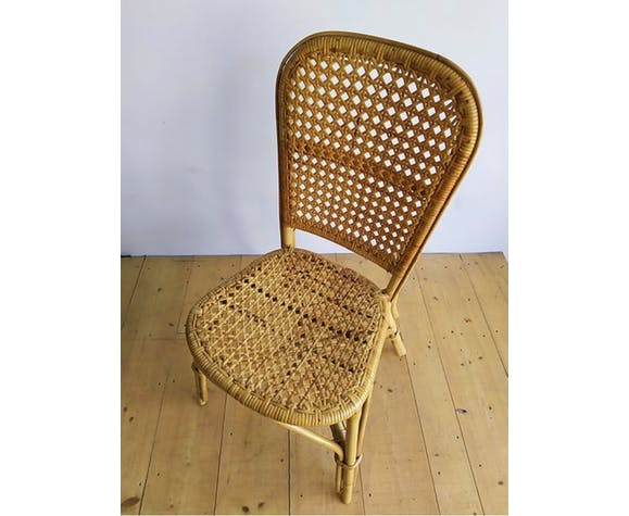 Chaise cannage rotin