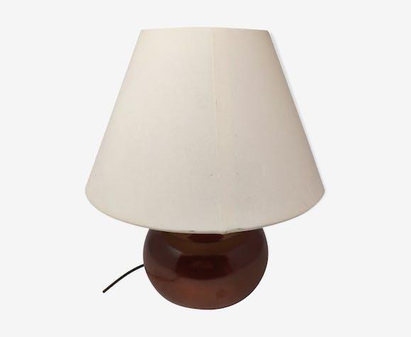 Lampe en céramique marron