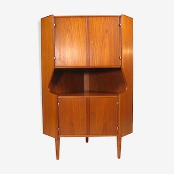 Teak Omann Jun, Denmark 1960's corner Cabinet