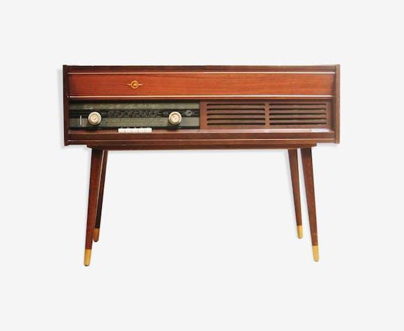 Meuble Radio Tourne Disques Pieds Compas Philips Modele
