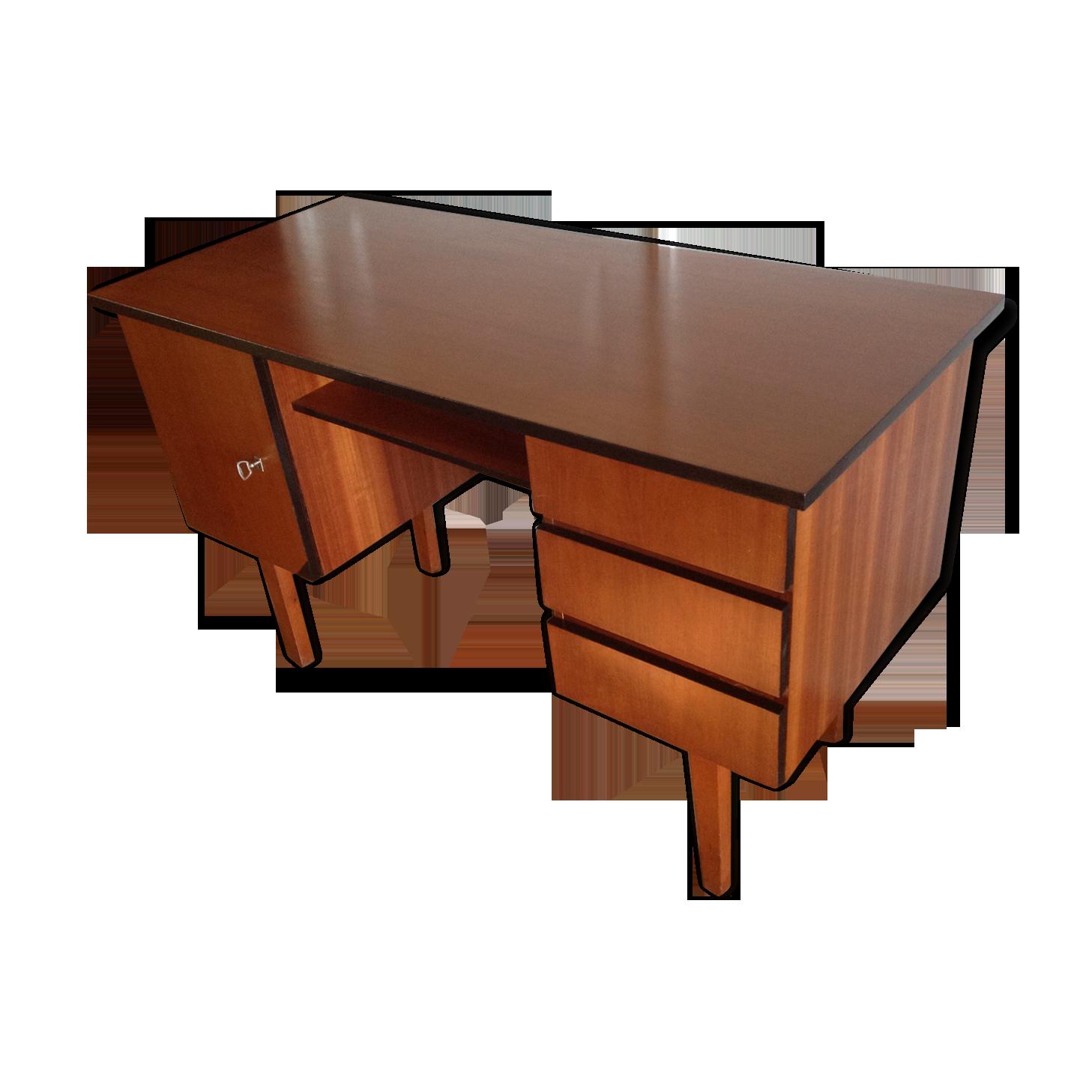 Bureau bois années pieds fuseaux bois matériau bois