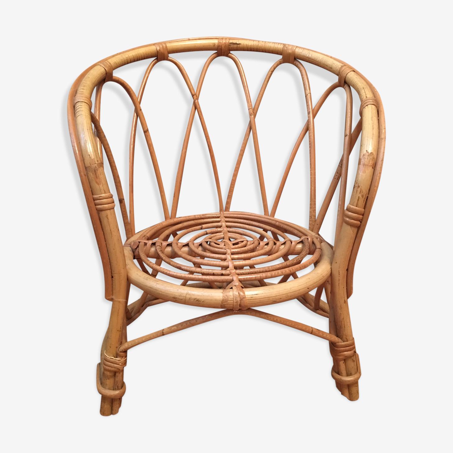Child 60s rattan armchair