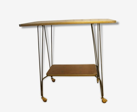 Table desserte vintage en formica ancienne table de for Meuble d appoint salon