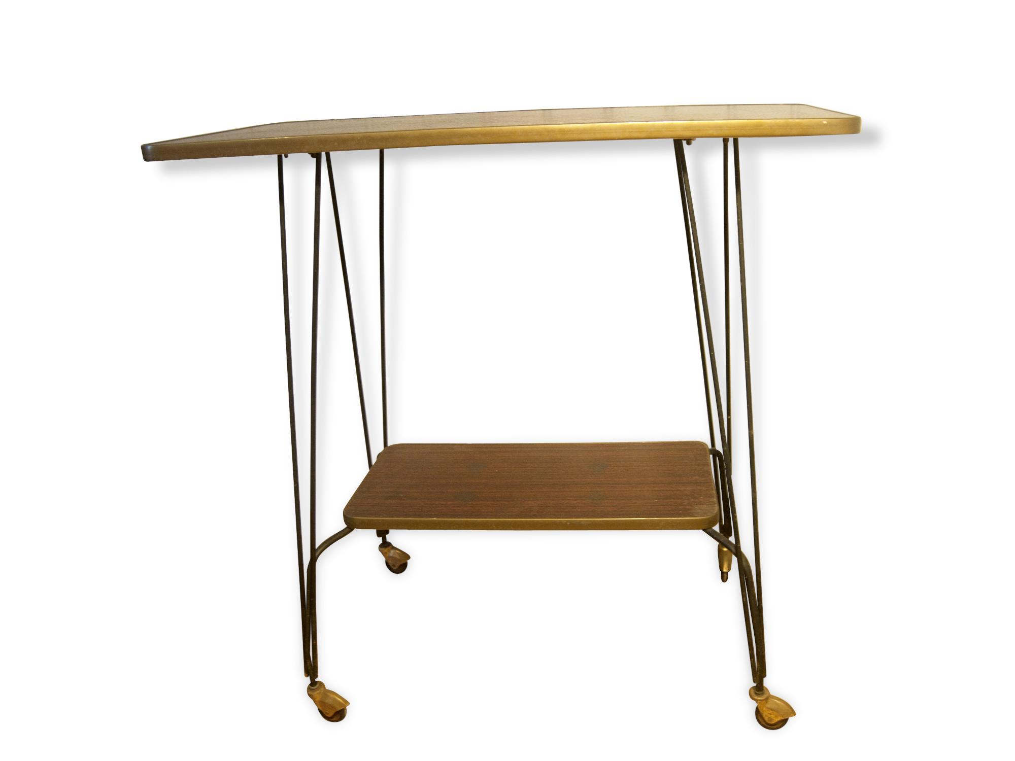 Table Desserte Vintage En Formica Ancienne Table De Salon  # Meuble D'Appoint Imitation Ancien