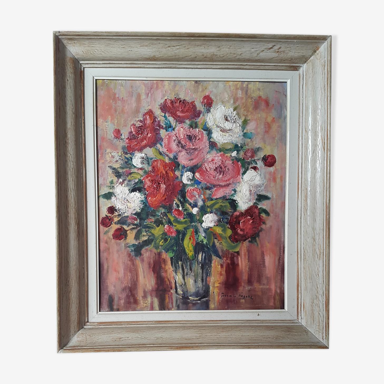 Oil on canvas Germaine Francoz