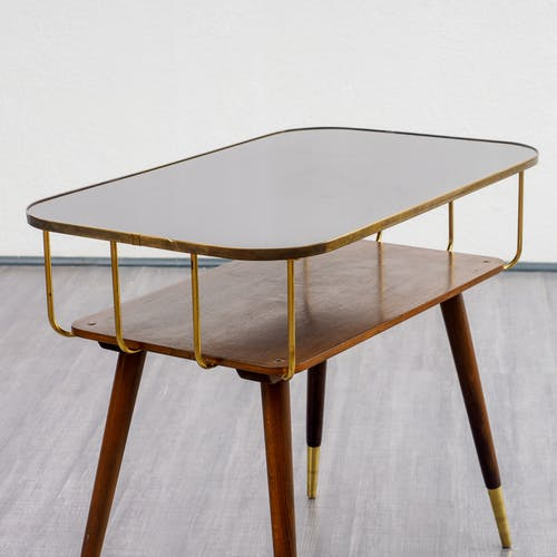 Coffee table, with brass 1950