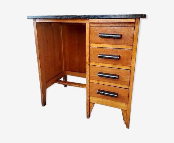Ancien bureau enfant type am ricain relook bois mat riau bois couleur vintage gsstmav - Bureau bois ancien ...
