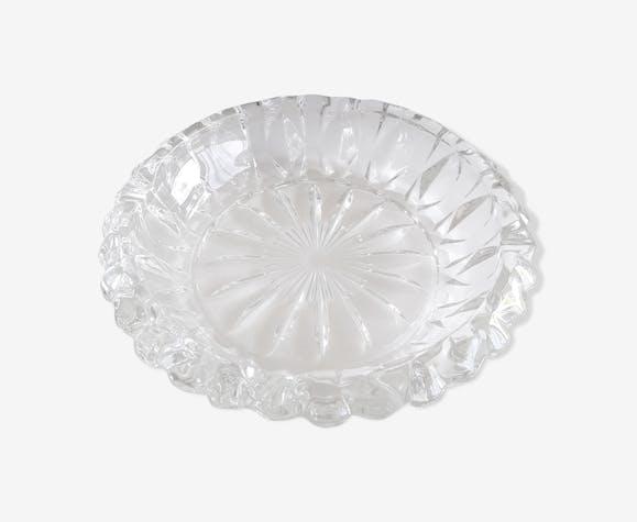 Cendrier verre ciselé années 50/60