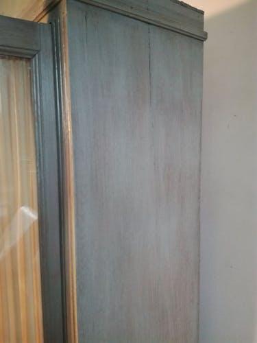 glass-enclosed Parisian wardrobe