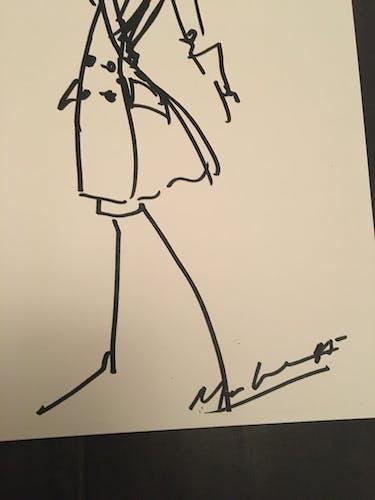 Illustration de mode de presse Christian Dior collection automne-hiver 1985-1986