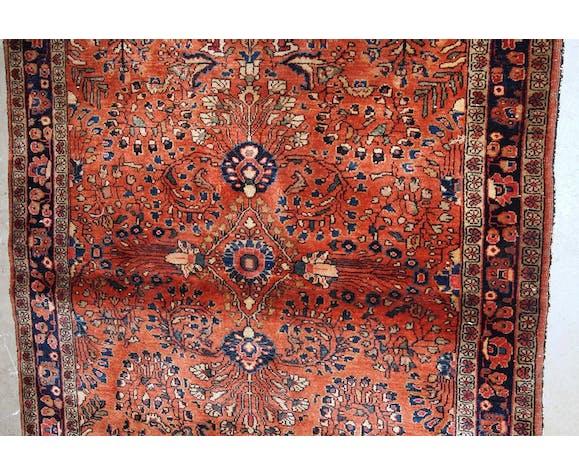 Tapis ancien persan sarouk  106 x 167cm 1920s