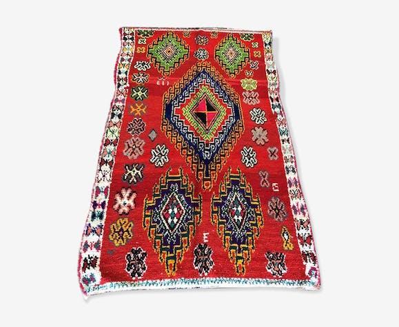 Tapis marocain  boucherouite 145x260 cm