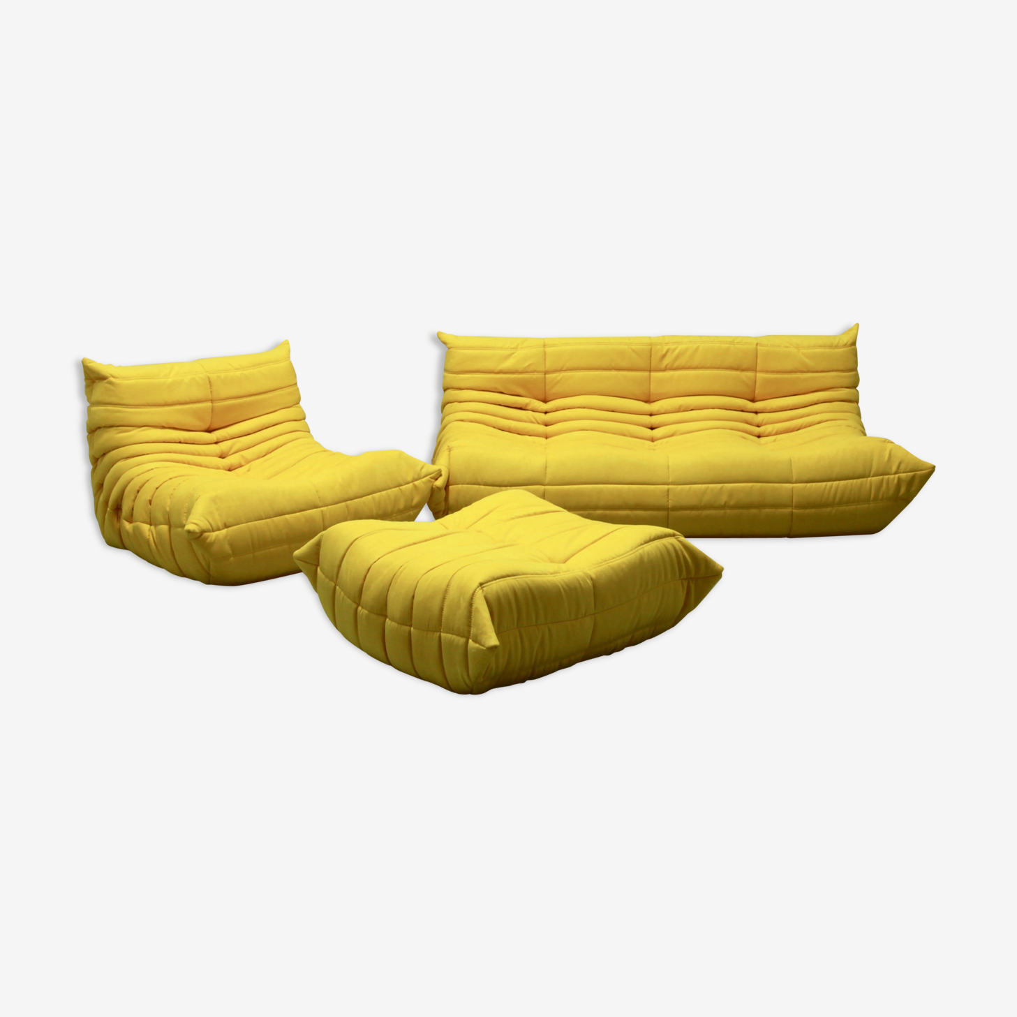 """Togo"" sofa set in Microfiber by Michel Ducaroy for Ligne Roset"