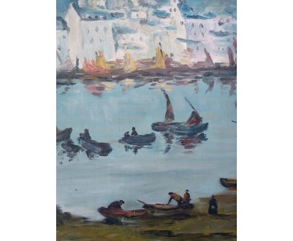 Peinture paysage marin breton signé