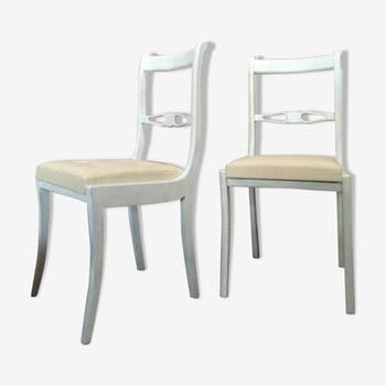 chaise m daillon louis xvi bois mat riau blanc classique 27519. Black Bedroom Furniture Sets. Home Design Ideas