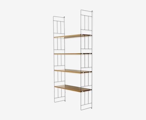online retailer 0f77a 04473 Mid century metal and teak ladder shelf by whb 1960s - teak ...