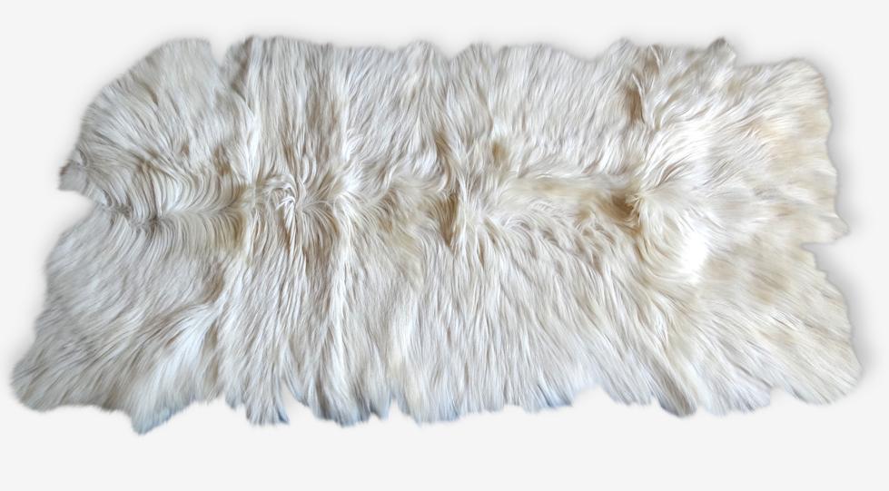 Tapis Peau De Chevre 1 Peau Blanc Scandinave 41328