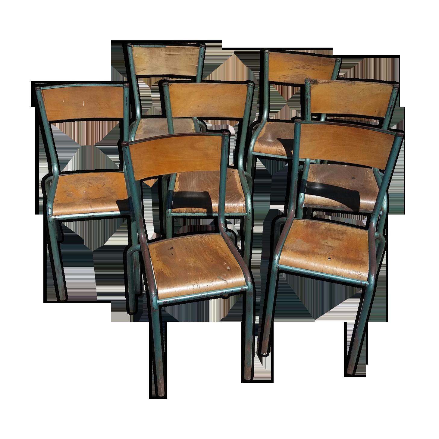 Chaise D École Mullca série de 7 chaises d'école mullca modèle 510 | selency