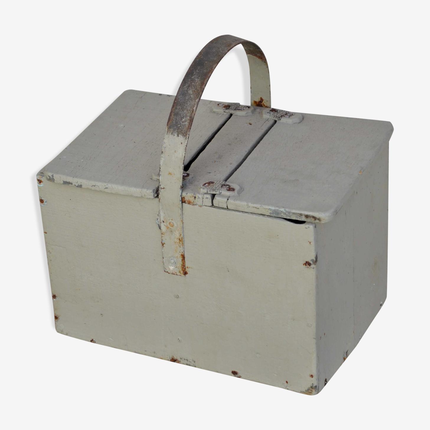 Boîte ancienne bois à 2 rabats