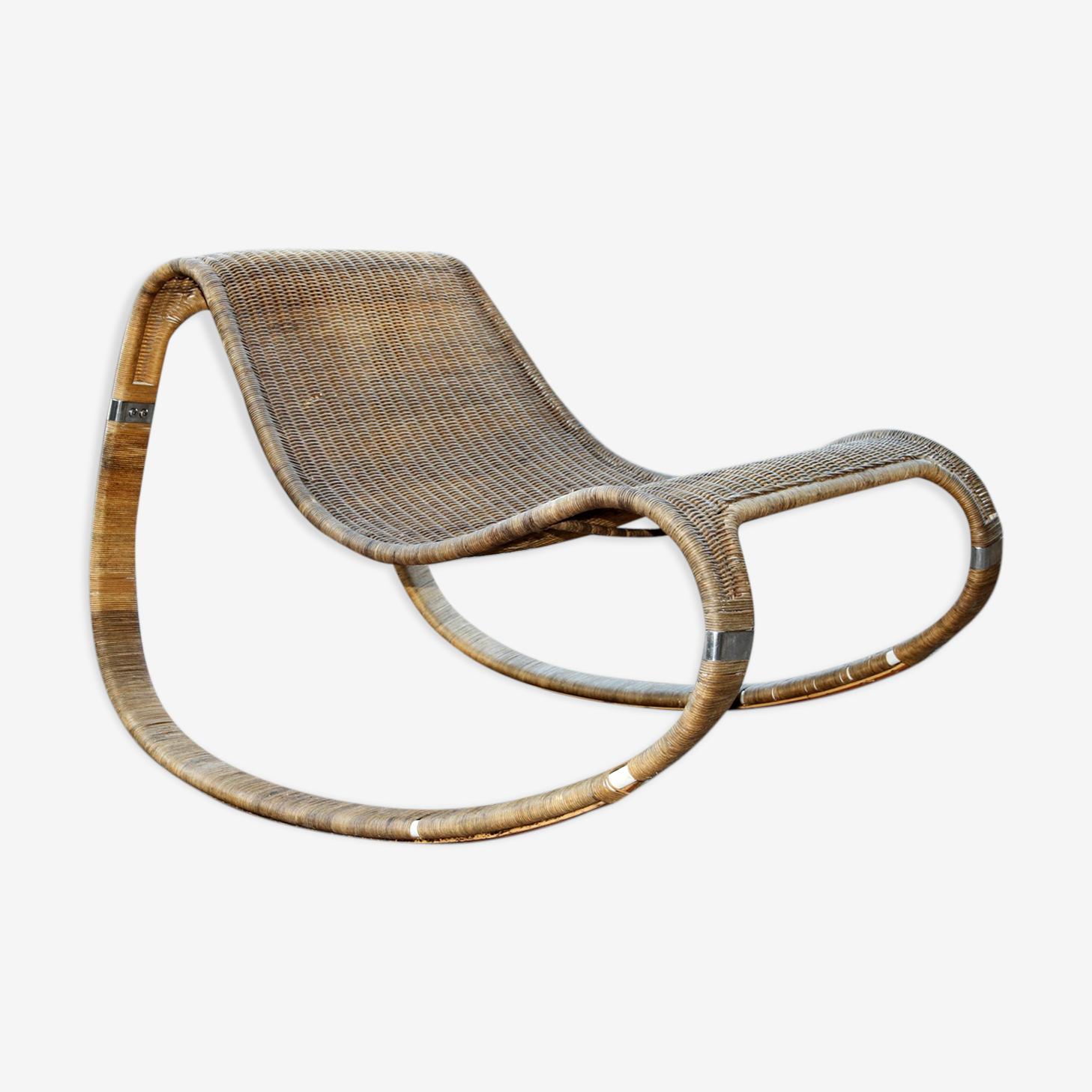 Rocking-chair en osier