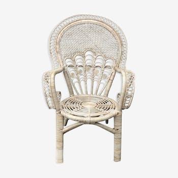 """Armchair in rattan spirit """"Emanuelle""""."""
