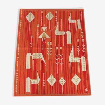 Hand woven wool rug 158x120cm