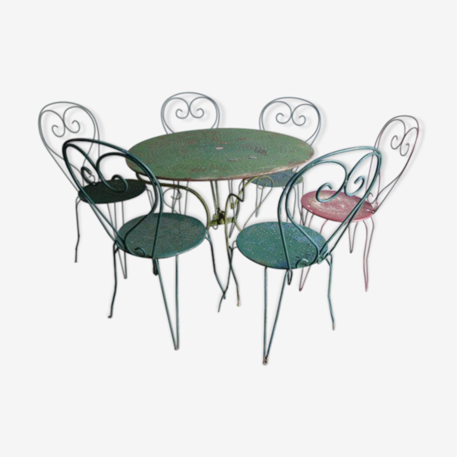 Table et 6 chaises de jardin