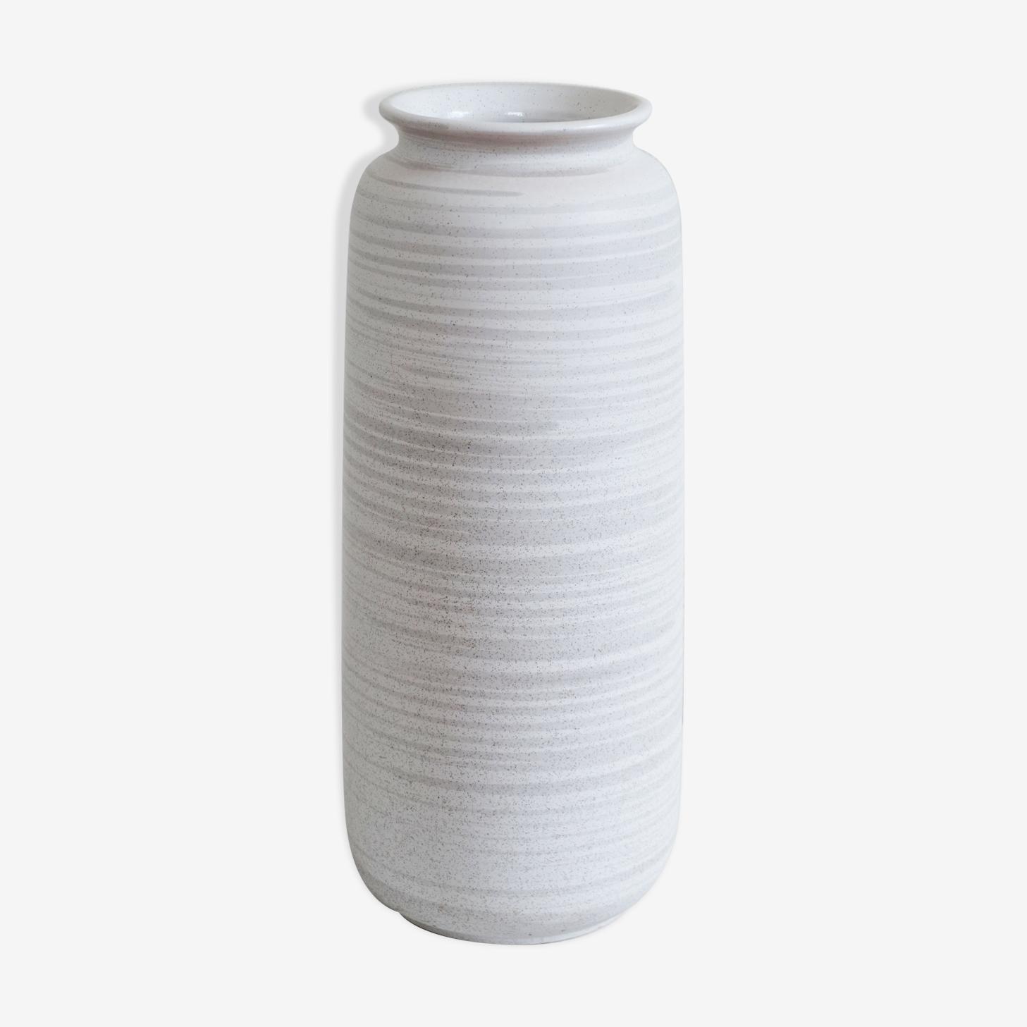 Vase blanc en céramique west germany