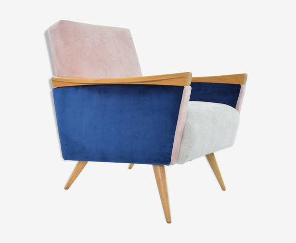 chaise scandinave tricolre