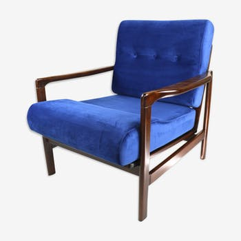 Vintage blue armchair from 1970 design by Z.Baczyk