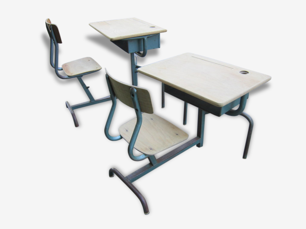 Bureau d'écolier évolutif années 50
