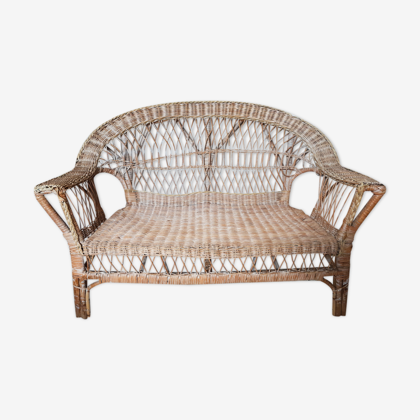 Childrens rattan sofa