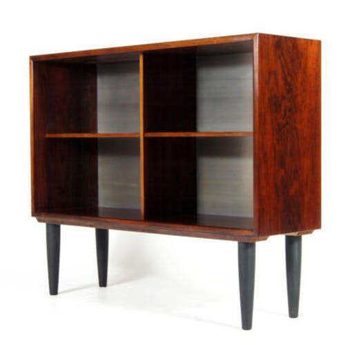 Bibliothèque rétro vintage danois moderne en palissandre