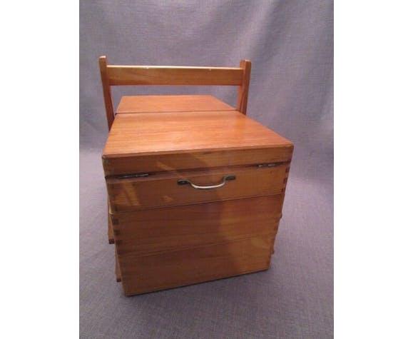 Boite a couture ancienne en bois