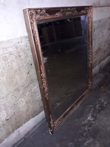 Golden mirror from period restoration