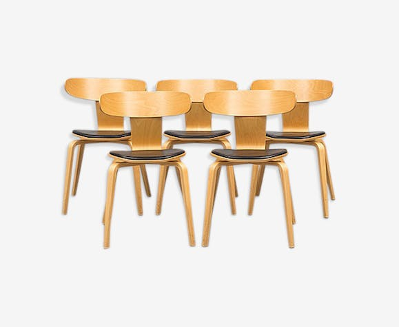 5 chaises scandinaves anness 1950 1960 - Chaises Scandinaves Couleur