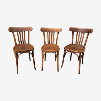 3 bistro chairs